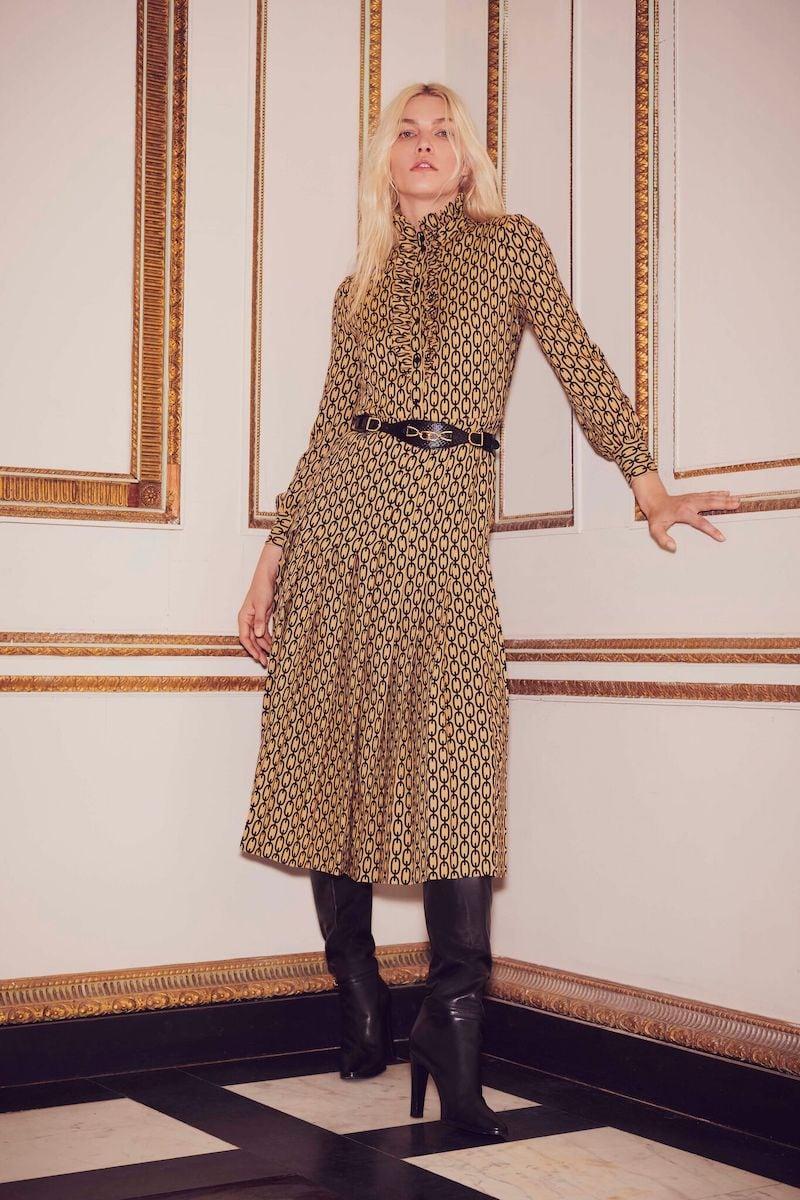 CELINE Pleated Blouse Dress