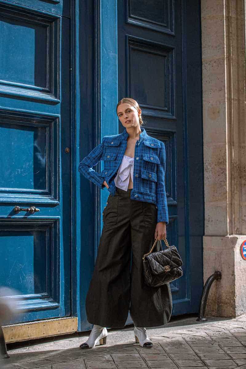 CHANEL Cotton & Wool Tweed Jacket