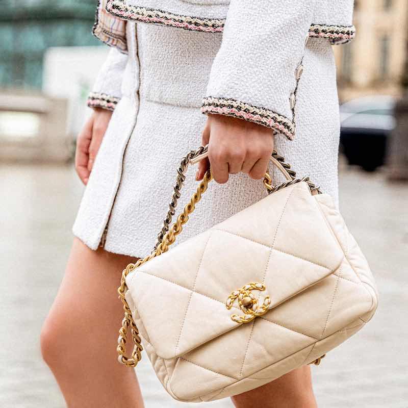 CHANEL Glittered Tweed Skirt 1