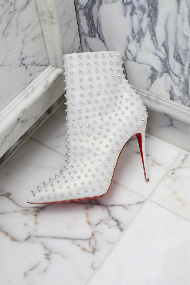 Christian Louboutin x Mytheresa Snakilta 100 Leather Ankle Boots