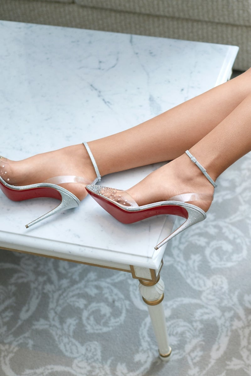 Christian Louboutin x Mytheresa Spikastrass 100 PVC Pumps