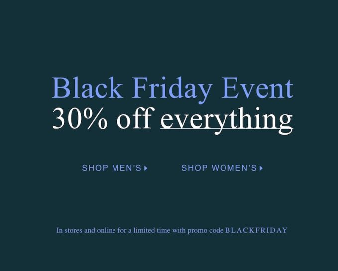 Club Monaco Black Friday Sale 2019