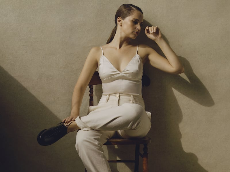 Dion Lee Paneled High-Rise Straight-Leg Jeans