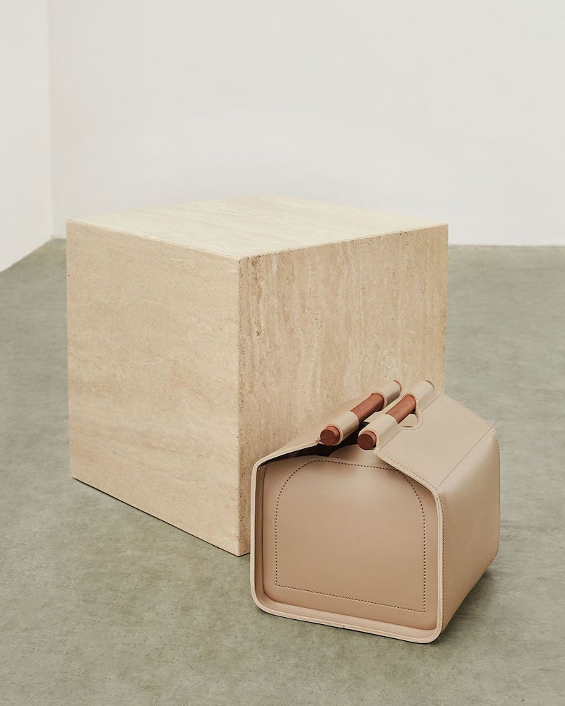 Giobagnara Small Leather Storage Basket