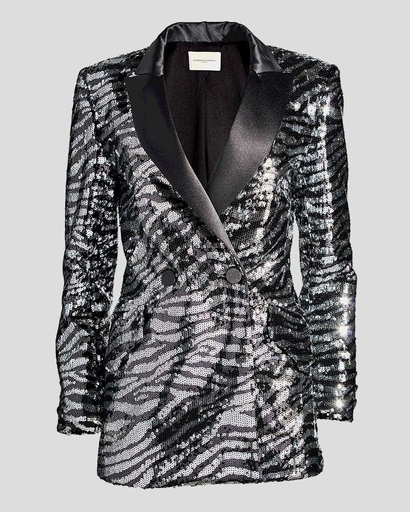 Giuseppe Di Morabito Sequin Zebra Jacket