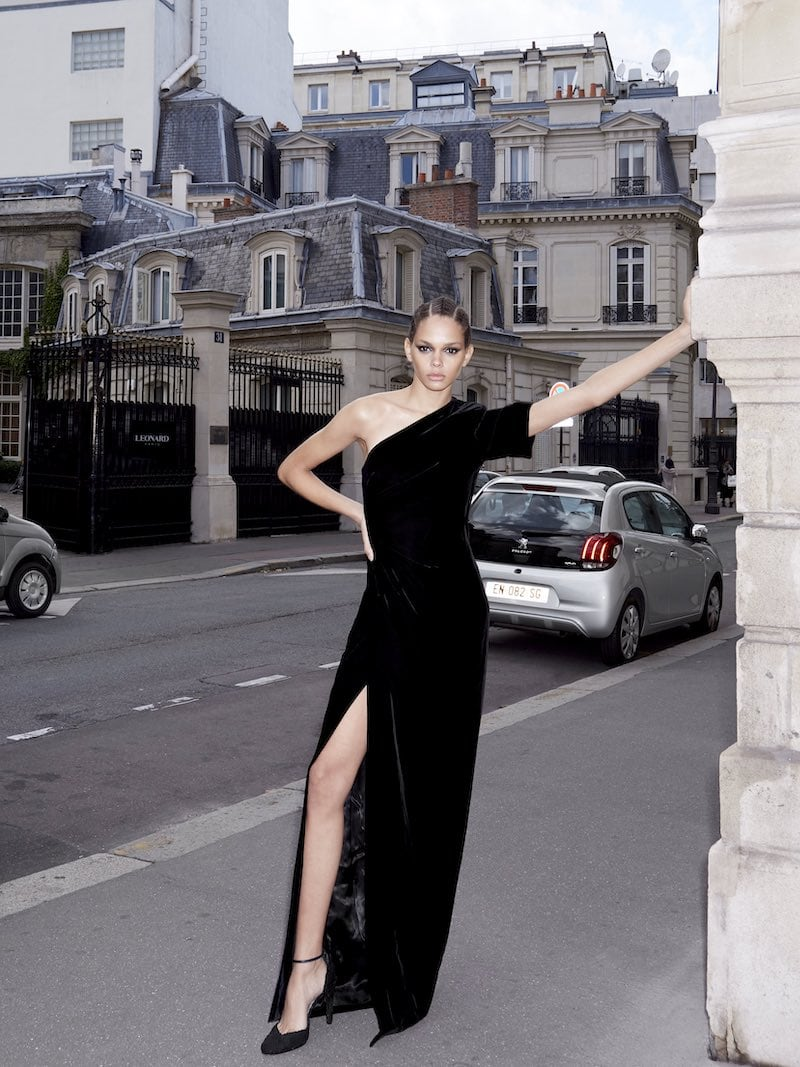 Givenchy Velvet One-Shoulder Fitted Gown