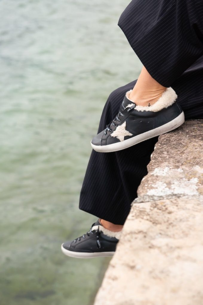 Golden Goose Superstar Shearling-Lined Leather Trainers