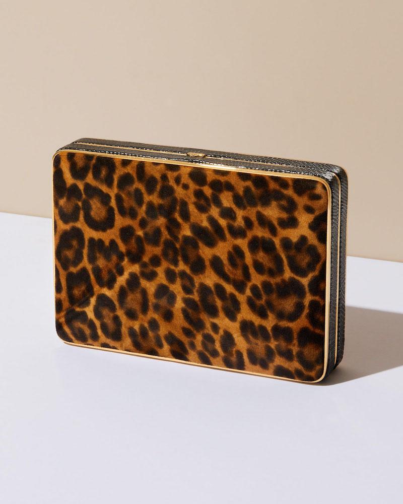 Hunting Season Square Trunk Leopard Clutch Bag