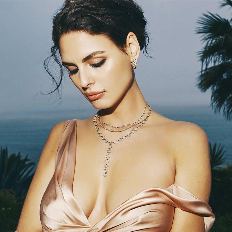 Lana Flawless 14k Mega Diamond Crossover Hoop Earrings