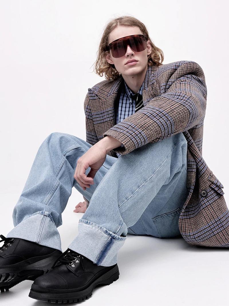 Lardini Wool Houndstooth Coat