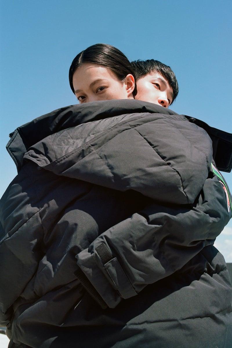 Li-Ning Black Down Long Coat