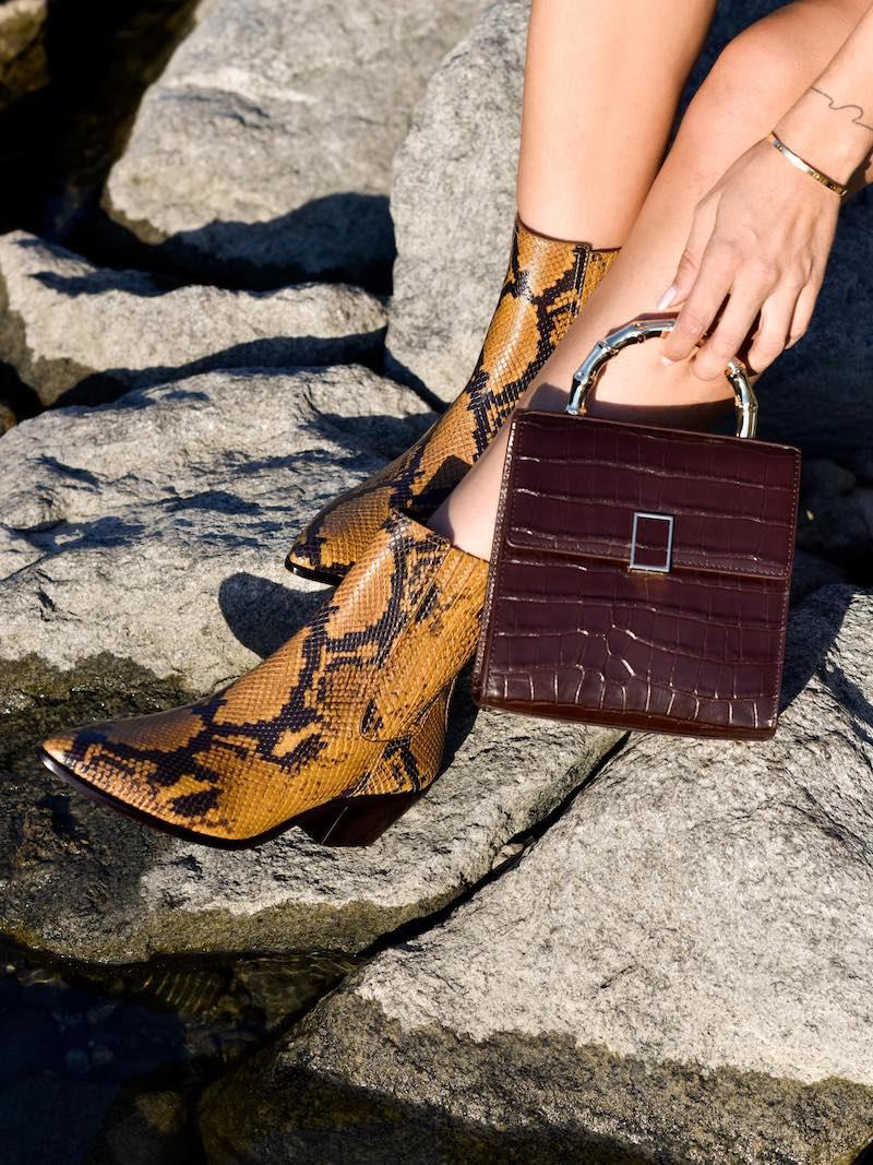 Loeffler Randall Croc-Embossed Leather Mini Crossbody Bag
