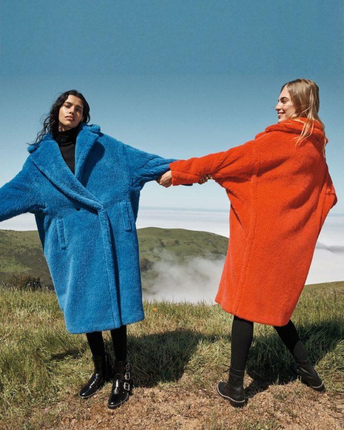 Maxmara Oversized Fuzzy Teddy-Knit Coat