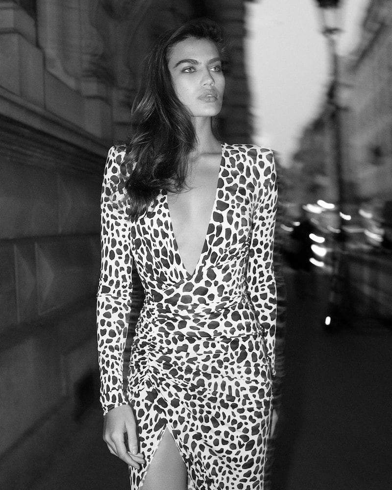 Mytheresa x Alexandre Vauthier Animal-Print Stretch-Jersey Gown