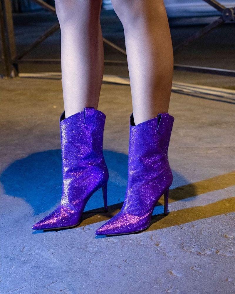 Mytheresa x Alexandre Vauthier Wayne Glitter Ankle Boots