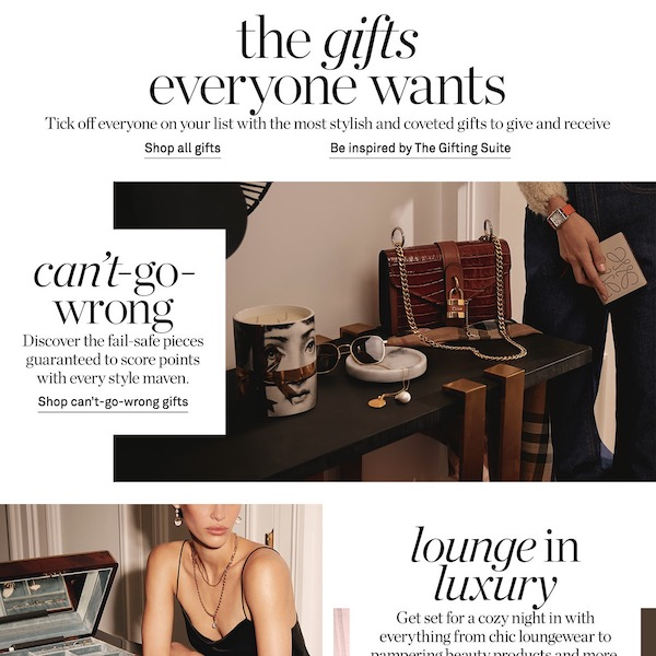 NET-A-PORTER Holiday 2019 The Gift Suite