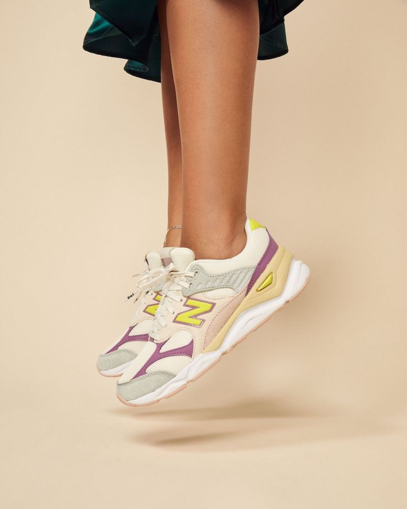 New Balance x Reformation X90 Sneakers in White Green