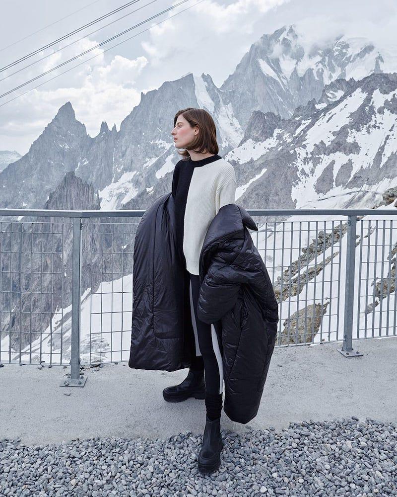 Norma Kamali Sleeping Bag Reversible Coat