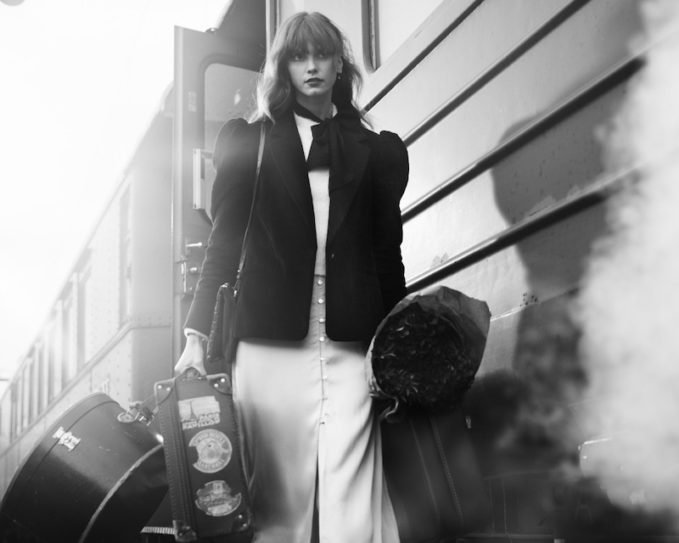 & Other Stories Iridescent Button Satin Midi Skirt