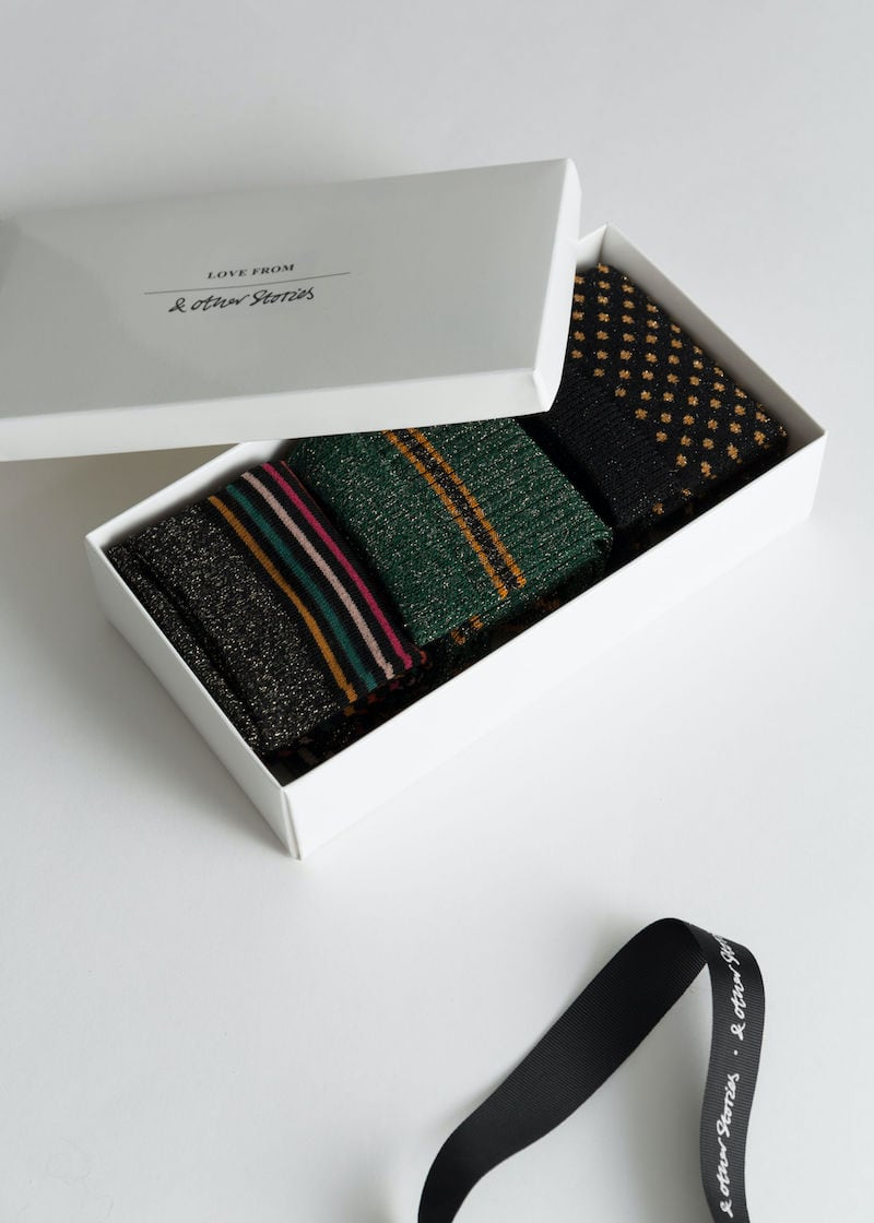 & Other Stories Metallic Socks Gift Set