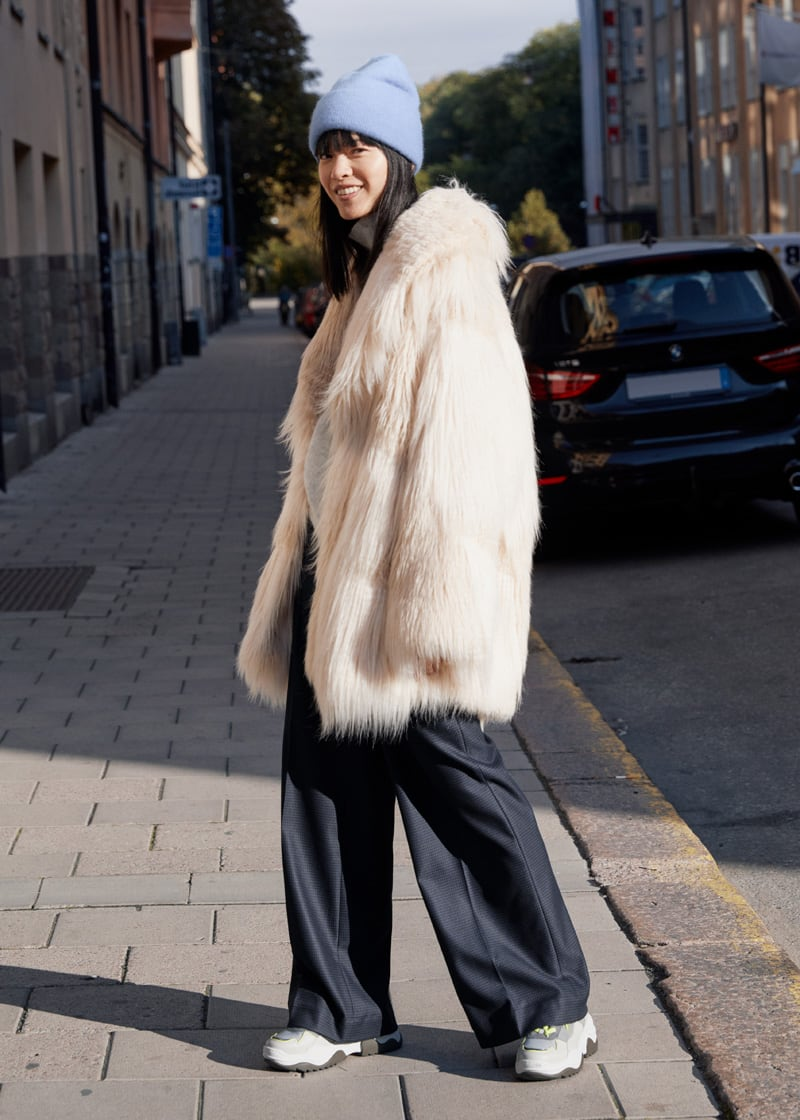 & Other Stories Oversized Shaggy Faux Fur Coat