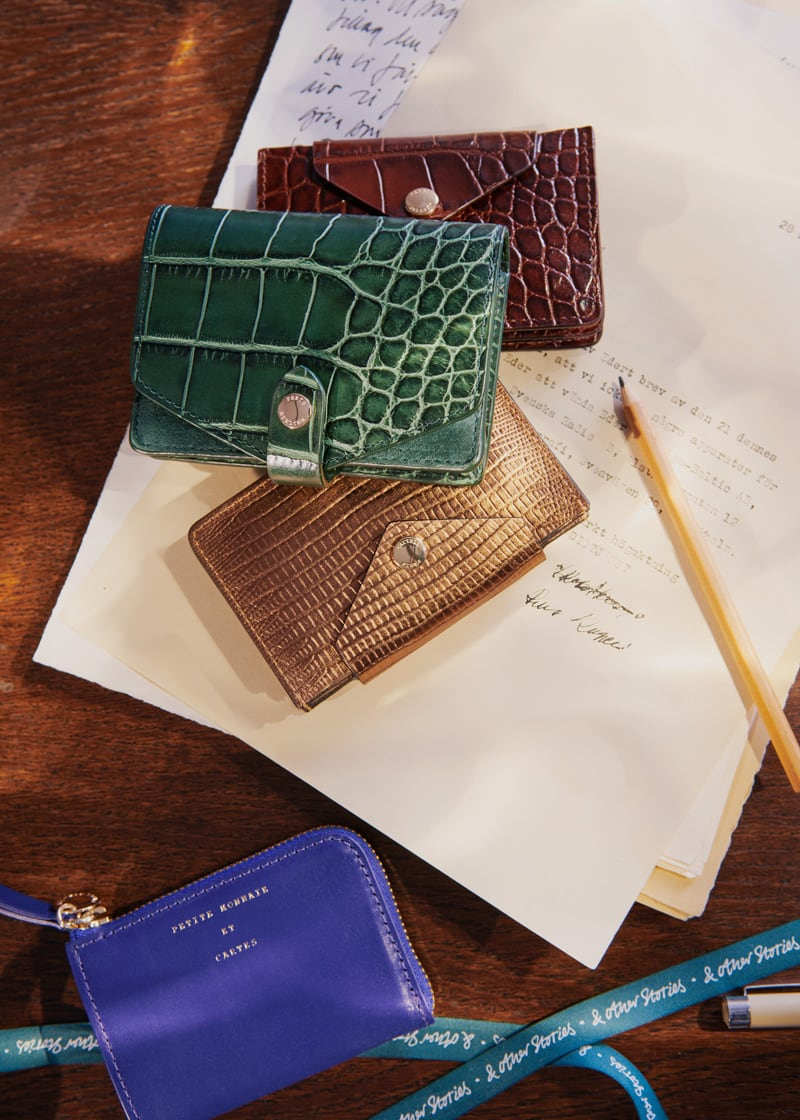 & Other Stories Small Leather Zip Envelope Wallet