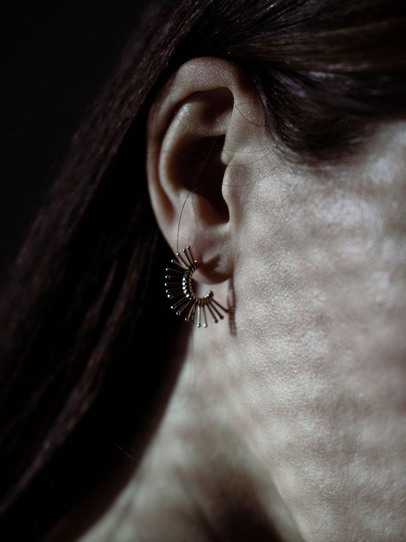 Peruffo Slide Mini Mohawk Mono Earring