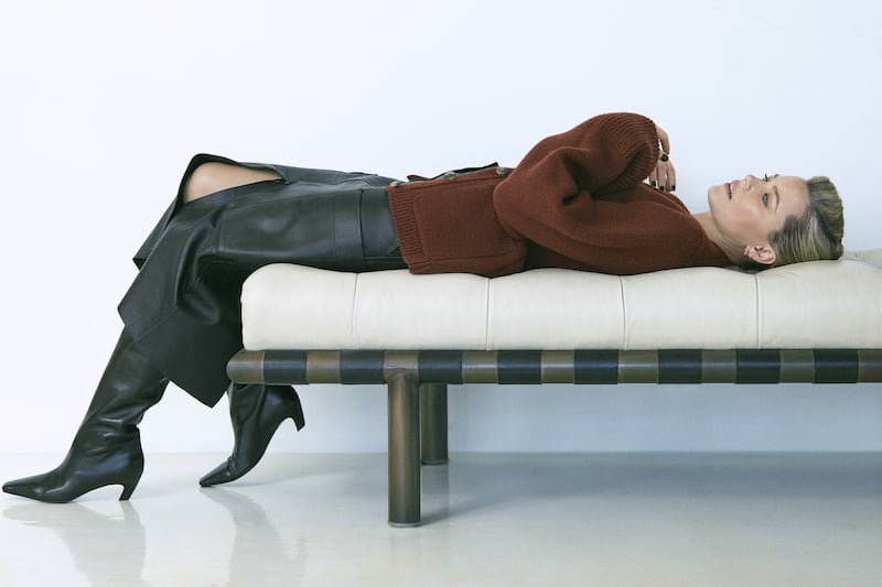 Petar Petrov Ria Leather Midi Skirt