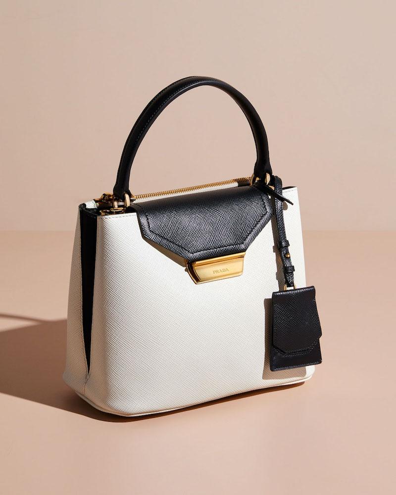 Prada Two-Tone Panier Bag