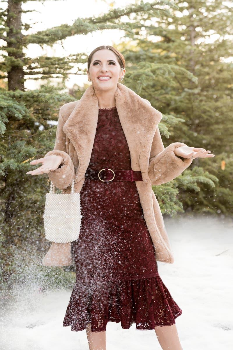 Rachel Parcell Lace Ruffle Hem Sheath Dress
