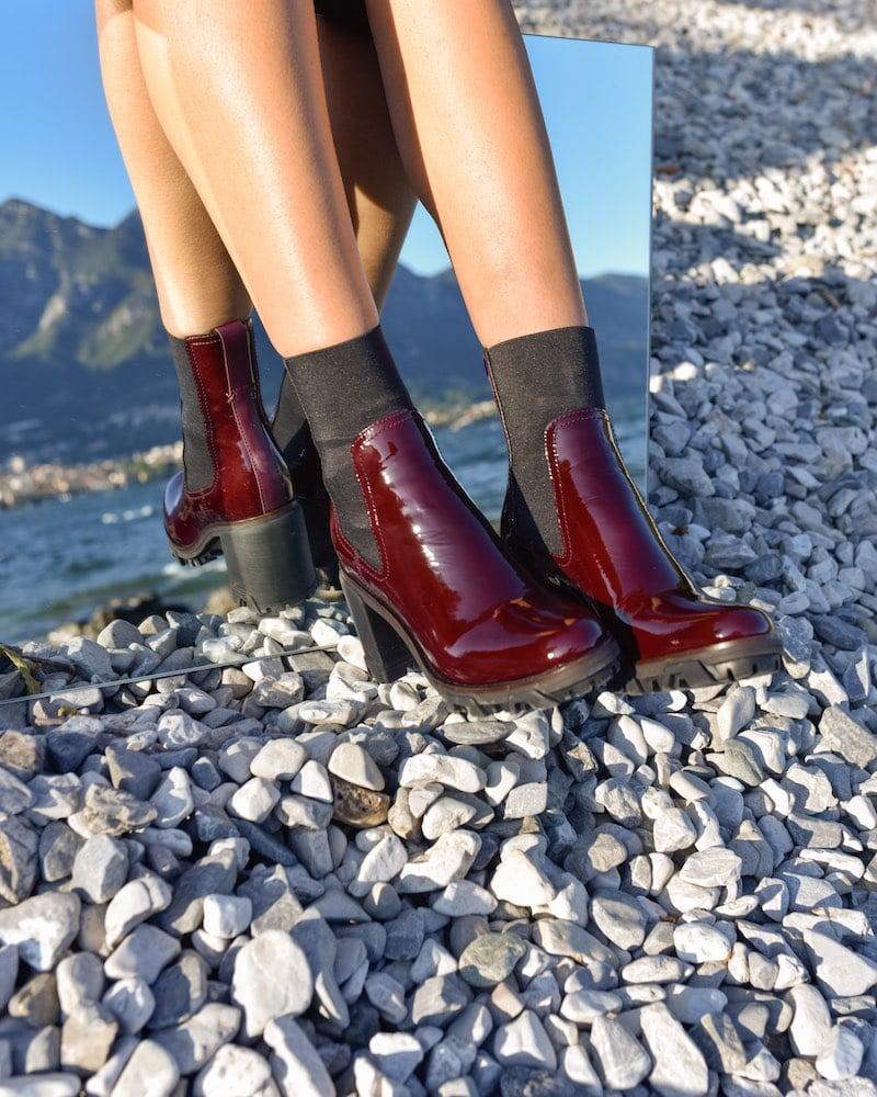 Rag & Bone Shiloh Block-Heel Patent Boots