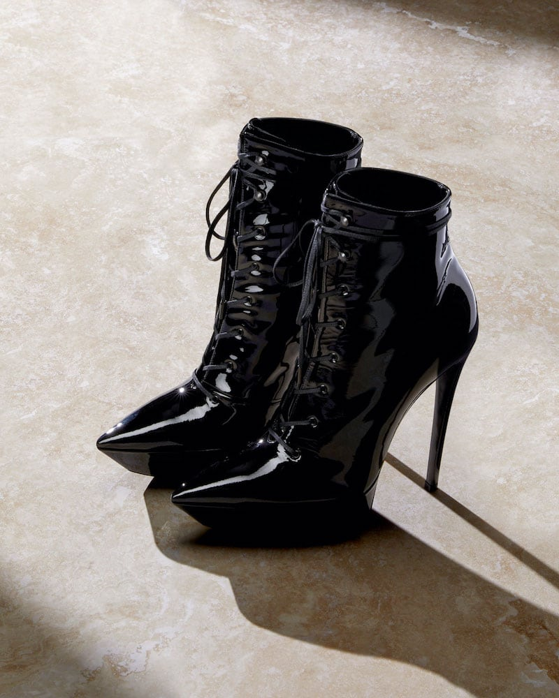 Saint Laurent Betty Lace-Up Platform Booties