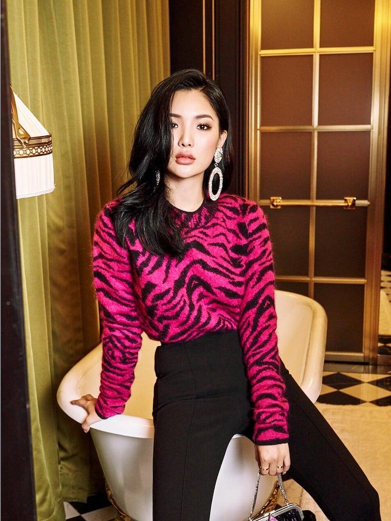 Saint Laurent Zebra Intarsia Wool Knit Sweater