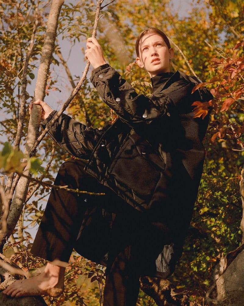 Saldarini Oversize Hooded Jacket W/Cashmere