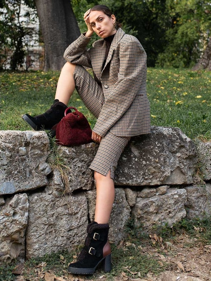 See by Chloe Fur-Lined Double Buckle Boots