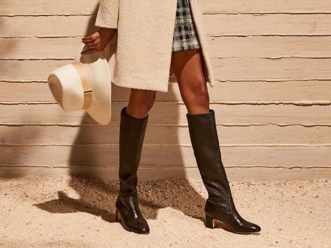 Stuart Weitzman Milla Stretch-Napa Knee Boots 1