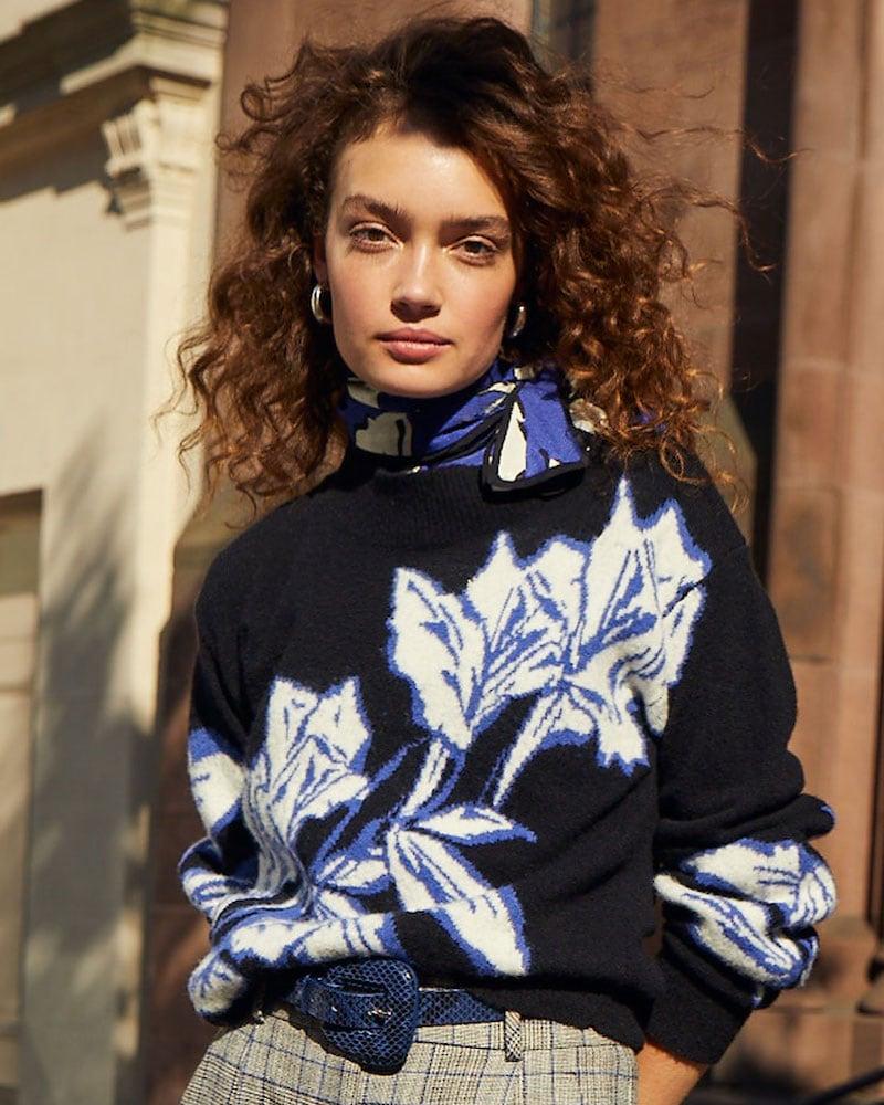 Veronica Beard Ayala Wool Intarsia Pullover