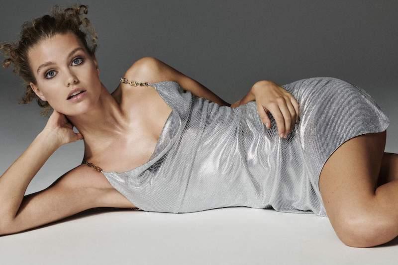 Versace Embellished Satin Mini Dress 1