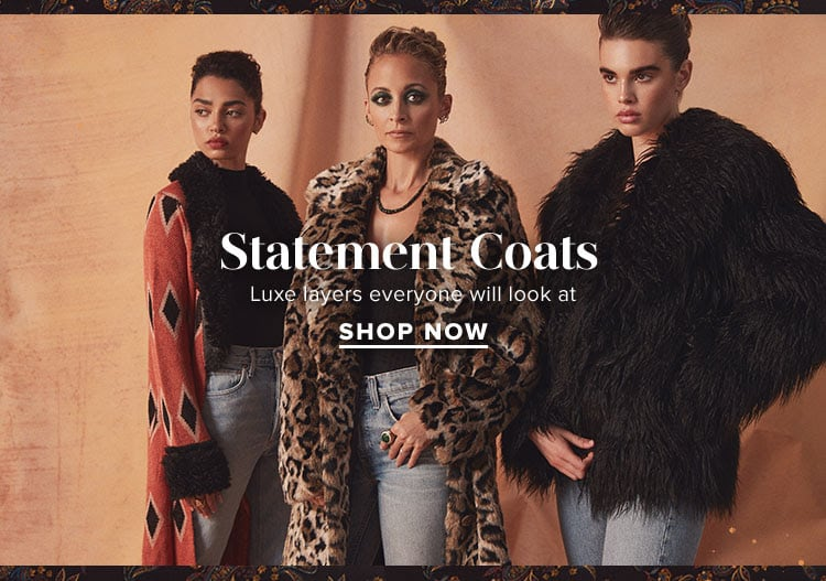 Statement Coats. Luxe layers everyone will look at. SHOP NOW.
