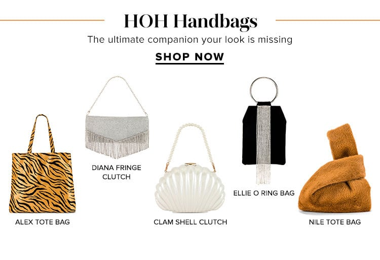 HOH Handbags. The ultimate companion your look is missing. Shop Now.
