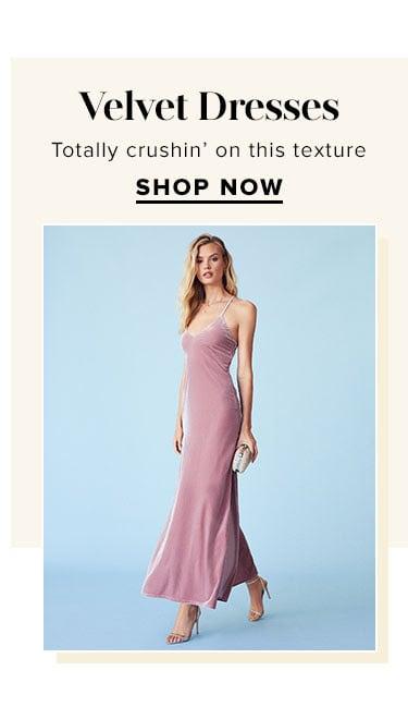 Velvet Dresses. Totally crushin' on this texture. SHOP NOW