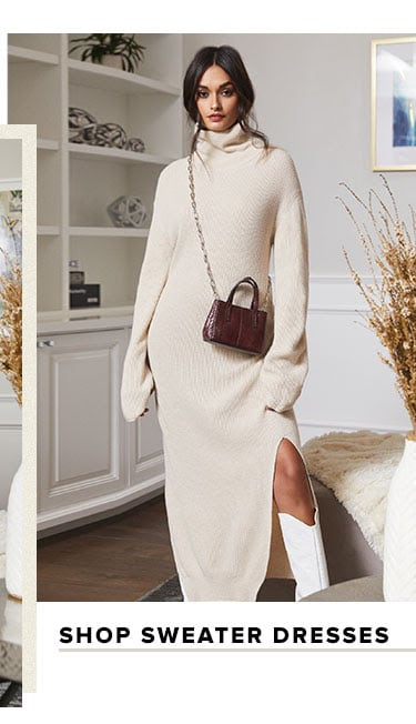 Shop sweater dresses.
