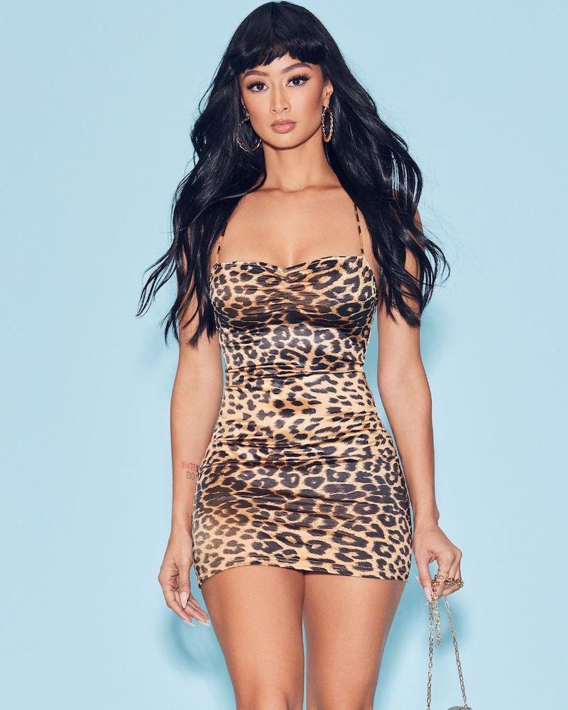 superdown x Draya Michele Tasha Ruched Mini Dress