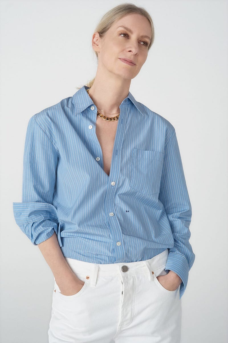 A.P.C. X Suzanne Koller Codeo Striped Cotton Shirt