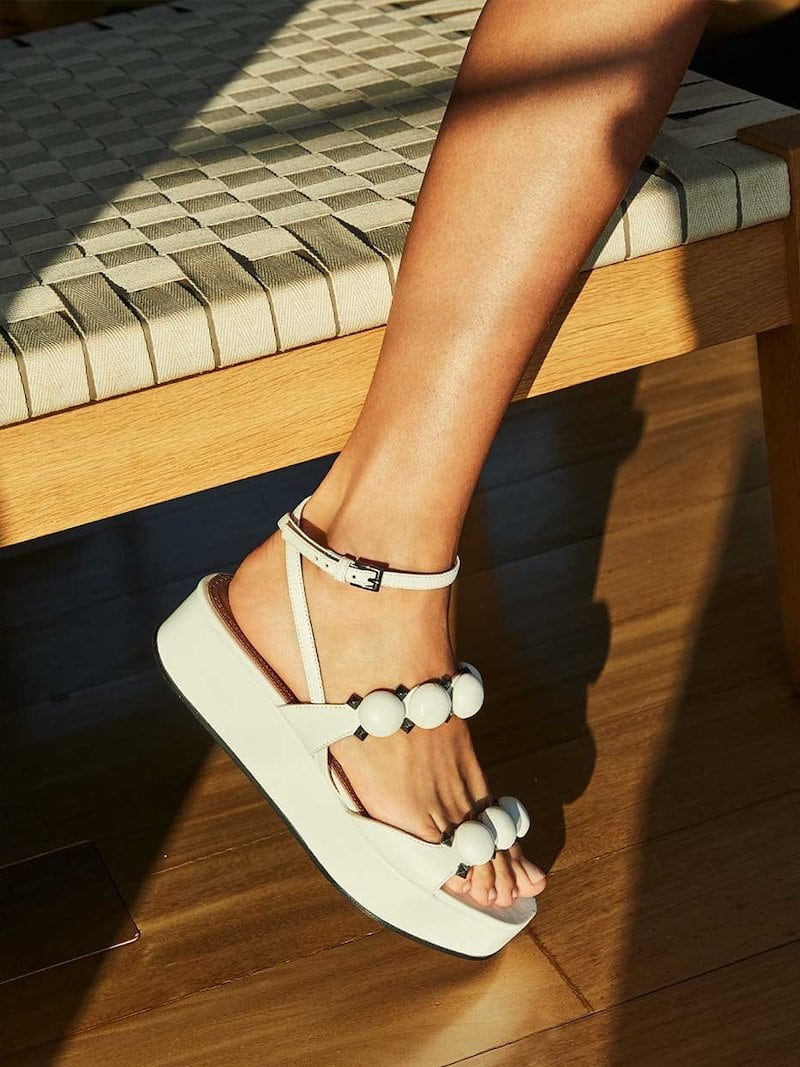 Alaïa Bombe Stud Leather Platform Sandals