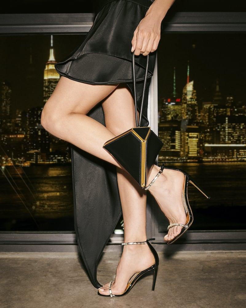 Alexandre Vauthier Carla Crystal-Embellished Patent-Leather Sandals