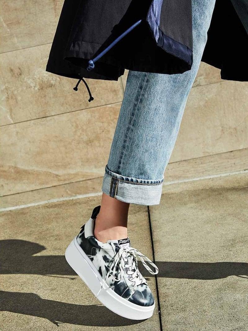 Ash Moon Tie-Dye Sneakers