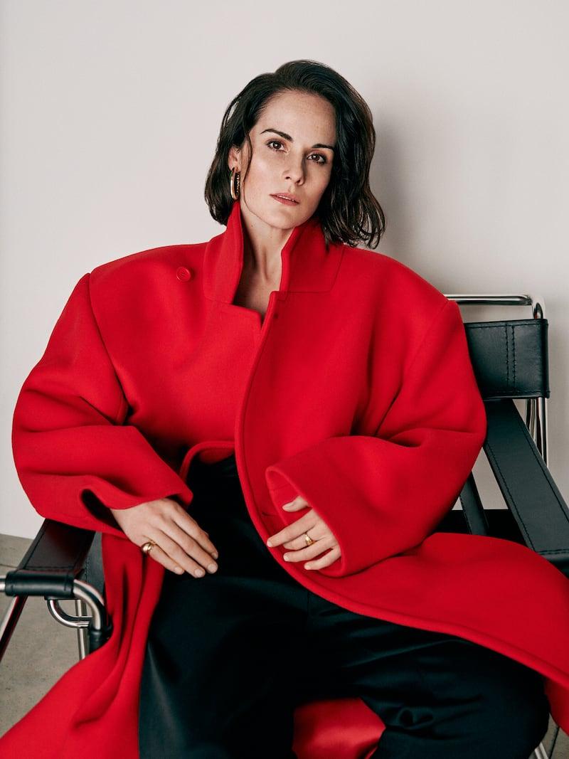 Balenciaga Oversized Wool-Blend Felt Coat