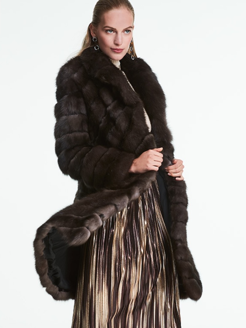 Burnett New York Sable Fur Stroller Coat