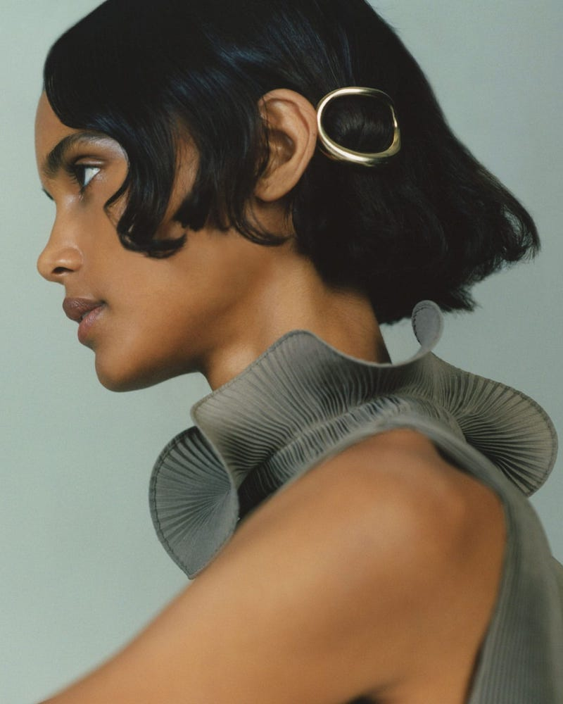 CHARLOTTE Chesnais Turtle Hair Clip in Gold